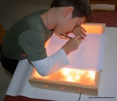 can light fire box home makerspace how to make a light box for art and play