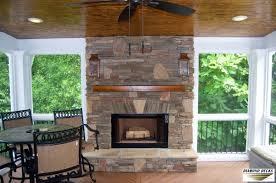 screened porch u0026 fireplace installation maryland outdoor