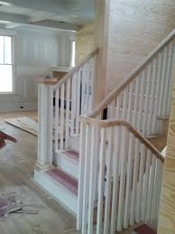 Wooden Stair Banisters Unique Curved Wooden Stair Railing Warner Creations Llc