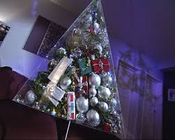 modern christmas diy modern pyramid shaped christmas tree with gifts shelterness
