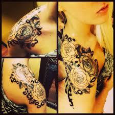 yellow flower tattoos shoulder piece flowers tattoos for women tattoos pinterest