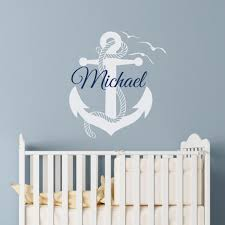bedroom nautical style font b anchor b font of ship art wall full size of removable boys room anchor wall sticker custom made personalized name font b bedroom