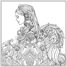 beautiful angel coloring page zentangles colouring