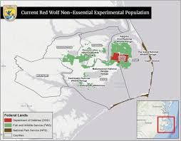 Map Program Red Wolf Recovery Program