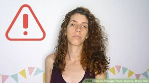 hair cuts for course curly frizzy hair 3 ways to manage thick coarse wavy hair wikihow