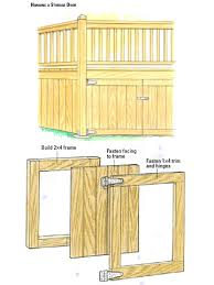 ferpa plans to build a shed door