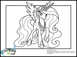 princess celestia pony coloring pages