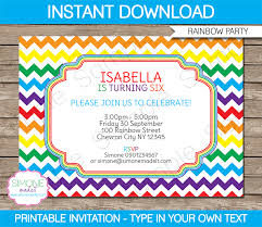 8 best images of rainbow birthday party invitations printable free