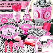 cheetah print party supplies pink and black leopard print birthday party supplies cheetah cake