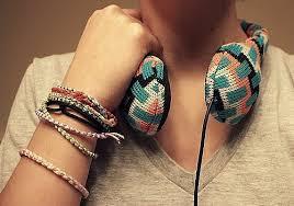 girl with bracelet images Bracelet bracelets colorful earphones girl image 146135 on jpg