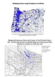 Isoline Map Applying New Methods With Gis Brian Altonen Mph Ms