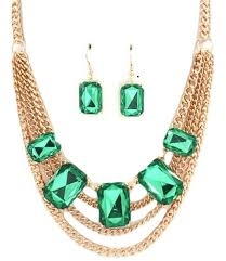 emerald green fashion necklace images Cheap emerald green statement necklace find emerald green jpg