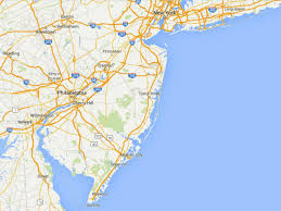 New Jersey New York Map by Maps Of The New Jersey Shore