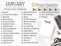 Challenge Instagram January 2017 Photo A Day Instagram Challenge