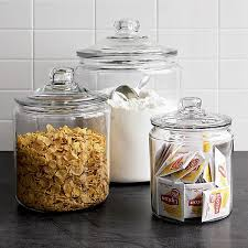 what to put in kitchen canisters retro style lidded glass jars kitchen cabinet styles pantry
