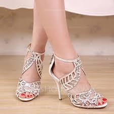 Rhinestone Sandal Heels Women U0027s Suede Stiletto Heel Peep Toe Sandals Beach Wedding Shoes