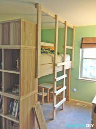 Building Plans For Cabins Bedrooms Wonderful Loft Bed With Stairs Plans Bamboo Picture