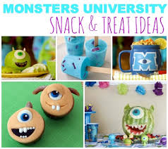 Monsters University Snack & Treat Ideas For The Summer