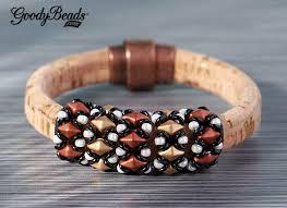 beading leather bracelet images Beaded diamonduo licorice leather bracelet with tutorial jpg