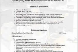 Resume Format For Call Center Job For Fresher Sample Resume For Call Center Job Entry Level Call Center Resume