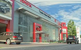 toyota agency 3d front elevation com toyota motors show room front elevation