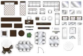 2d furniture floorplan top down view style 2 psd 3d model cgtrader