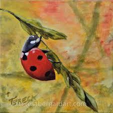ladybug 1 teresa bernard oil paintings