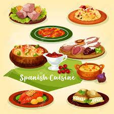 de cuisine espagnole plats de viande et de poisson de cuisine espagnole pour l icône de