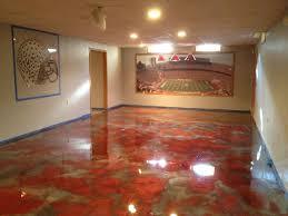Staining Concrete Basement Floor Metallic Epoxy Flooring Pcc Columbus Ohio