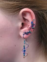 niobium earrings space age niobium length ear cuff set with matching earrings