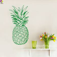 large wall sticker food promotion shop for promotional large wall large pineapple wall sticker baby nursery kids room pine fruit food kitchen coffee wall window decal glass vinyl decor