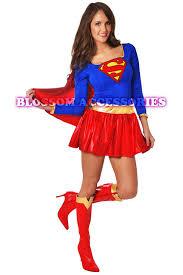 8349 ladies supergirl hero fancy dress halloween superhero