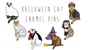 halloween pins halloween cat enamel pins by danielle v green u2014 kickstarter