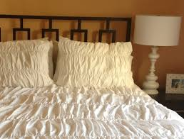 spotted a sutter ruched duvet cover in alice of crane