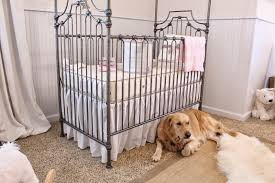 Bratt Decor Crib Tiffanyd Nursery Progress Curtains Crib And Some Accessories