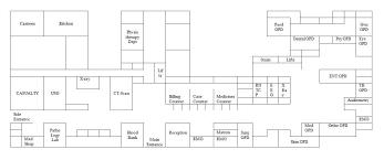 floor plan of hospital hospital layout surat municipal corporation