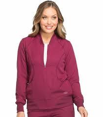 dickies dynamix s zip front warm up scrub jacket dk330