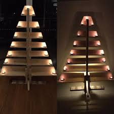 Pintrest Wood by Christmas Diy Pallet Tree With Tea Lights Furniture Christmas