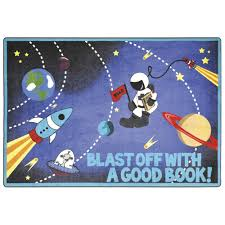 Outer Space Rug Joy Carpets Joy Carpets Blast Off With A Good Book Children U0027s