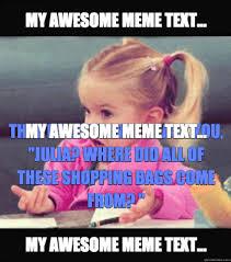 Make Meme Text - meme maker that moment when i ask julia