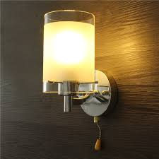 modern led indoor wall light fittings single head with switch no