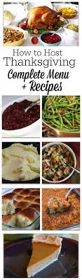 thanksgiving traditional thanksgiving dinner menu ideas for