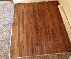Laminate Floor To Carpet How To Refinish Your Hardwood Floor Under Carpet 5 Steps