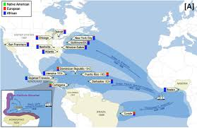 The Americas Map by Scientists Map Genome Of African Diaspora In The Americas Cu
