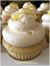 sweet little bluebird lemon cupcakes with lemon curd filling and