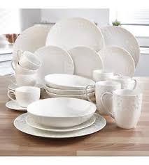 48pc white bone china dinner set service tea crockery round ebay