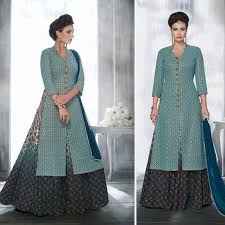 stylish dress indian designer wedding party wear anakali lehenga women
