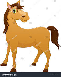 cute horse cartoon stock vector 430161244 shutterstock