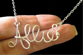 personalized name necklace sterling silver gold plated name necklaces