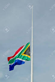 Flying The Flag At Half Staff South African Flag Flying At Half Mast During A Time Of Mourning